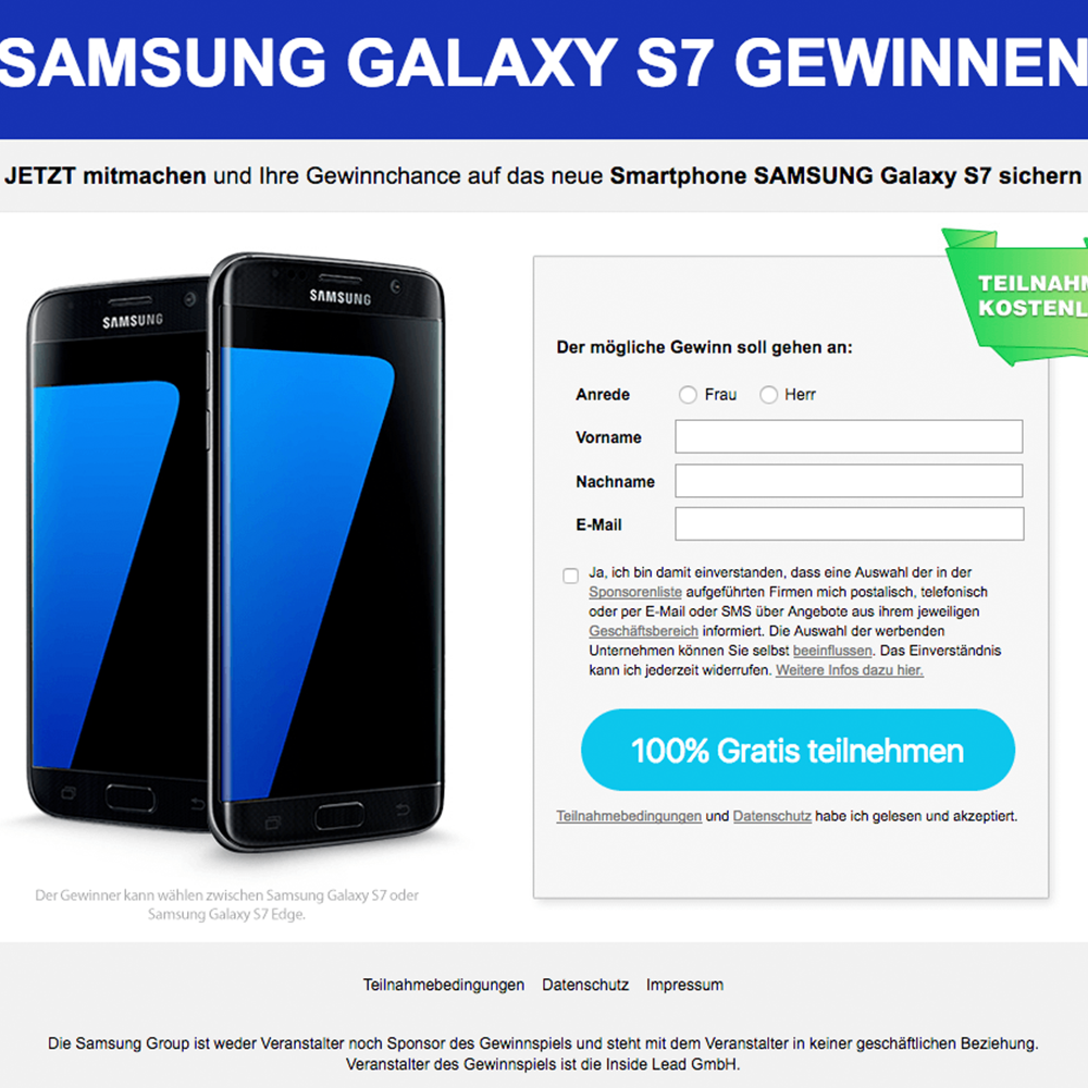 Samsung Galaxy S7 GWS (non incent) - AT