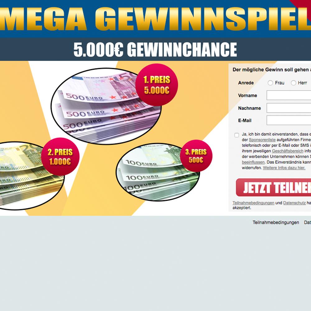 MEGA Bargeld - Gewinnspiel (non incent) - AT