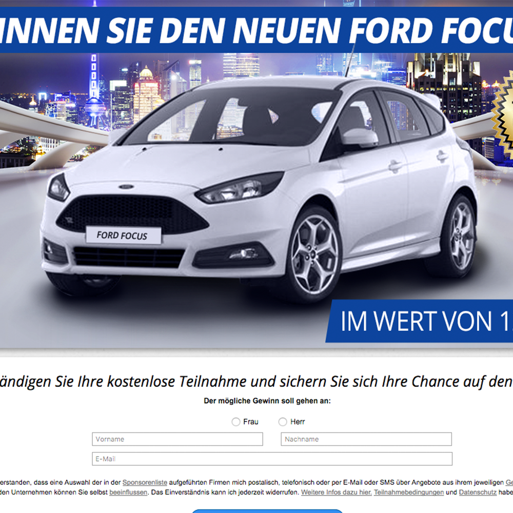 Ford Focus (non incent) - AT