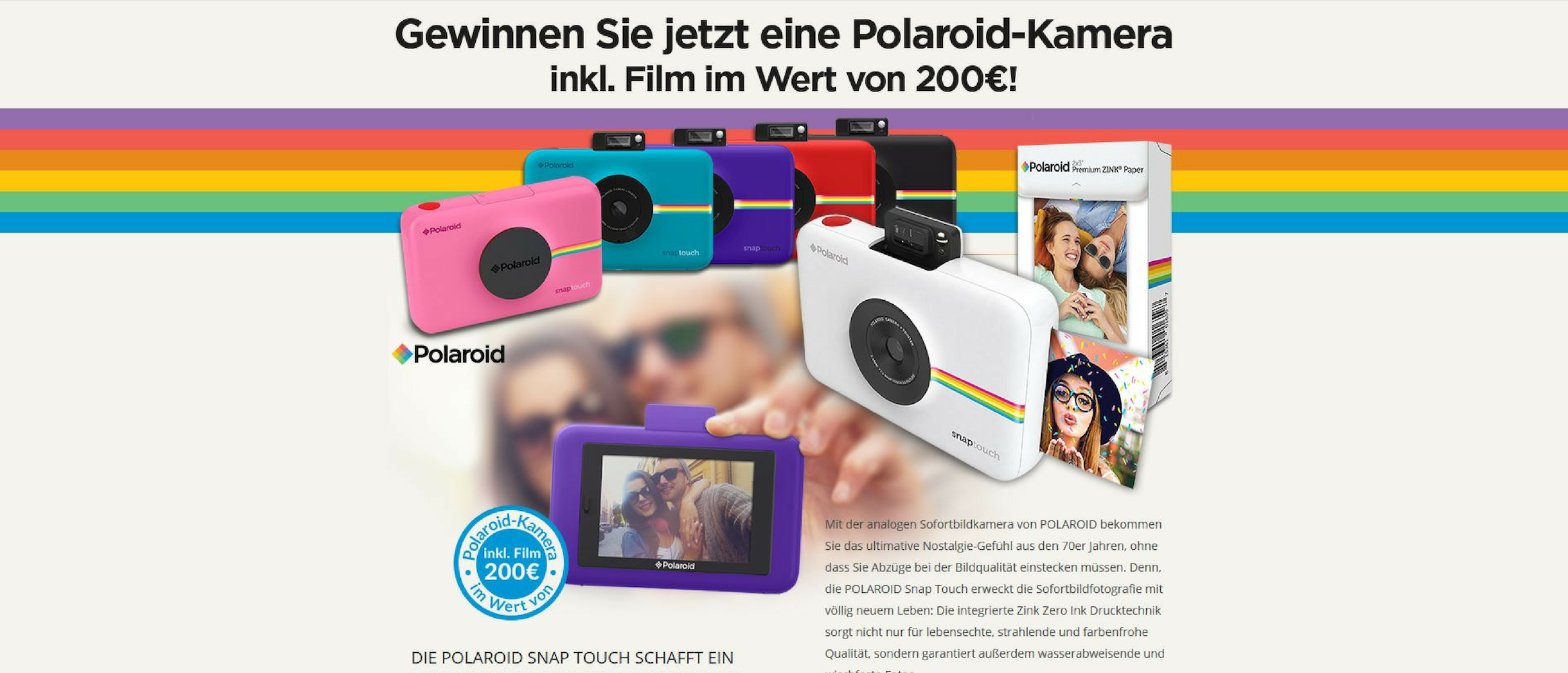 POLAROID Snap Touch GWS