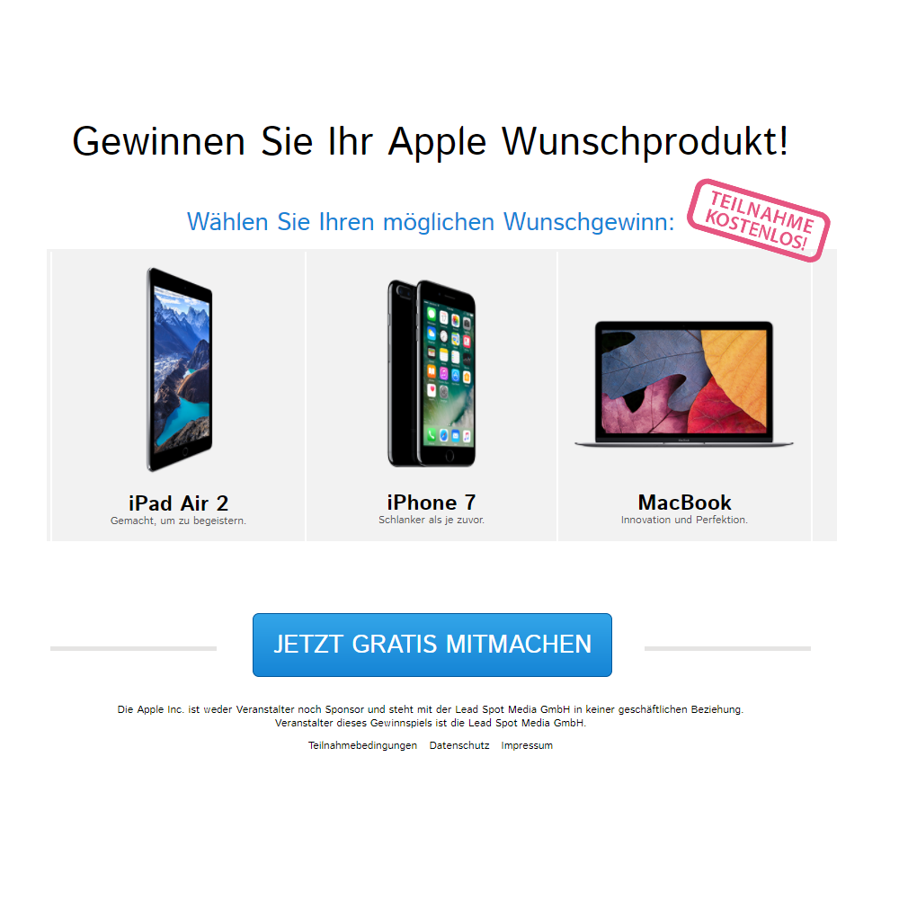 Apple Produkt GWS (non incent)