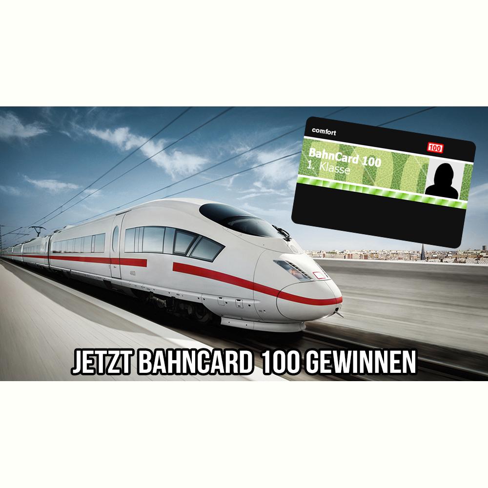 BahnCard100 Gewinnspiel